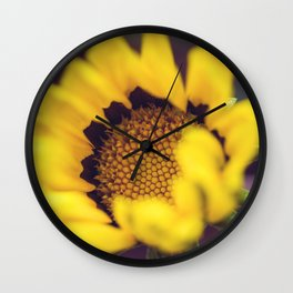 Summer in a sunflower - Floral Photography #Society6 Wall Clock