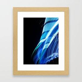 Smooth light art photography Framed Art Print