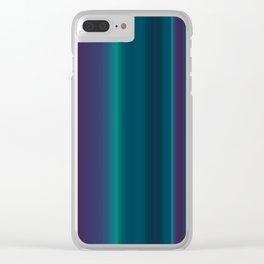 Royal Purple Aqua Stripes Clear iPhone Case