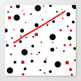 black and white meets red Version 3 Canvas Print