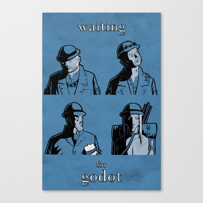 Waiting for Godot Canvas Print