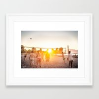 volleyball Framed Art Prints featuring Sunset Volleyball by MJ Blanchet