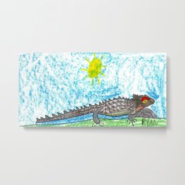 Crocodile Skink Metal Print