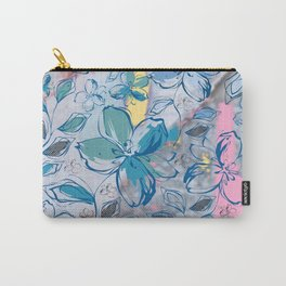 Drawing flowers - abstract background Carry-All Pouch
