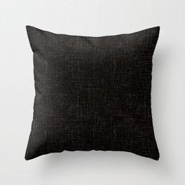 Textured black rough-woven. Throw Pillow
