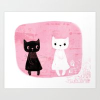 Give me your hand! Art Print