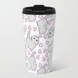 Angry Cat Candy Hearts Travel Mug