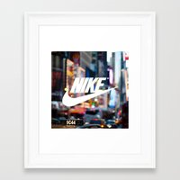 nike Framed Art Prints featuring Nike by Pink Berry Patterns