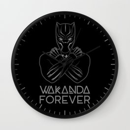 Wakanda Forever BlackPanther crossed arms Wall Clock