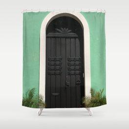 Old San Juan Door Shower Curtain
