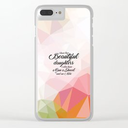 I have two... Inspirational Quote Clear iPhone Case