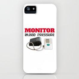 Blood pressure monitoring iPhone Case