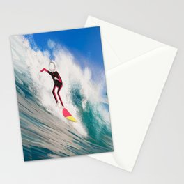 Corky's surfing Stationery Cards
