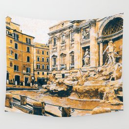 Trevi Fountain Wall Tapestry