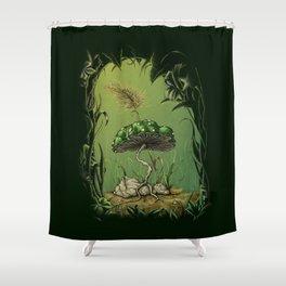 1-Up Mushroom Shower Curtain