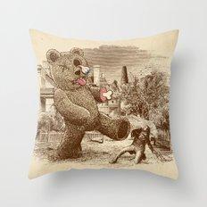 Teddy's Back! Throw Pillow
