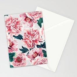 Pattern pink vintage peonies Stationery Cards