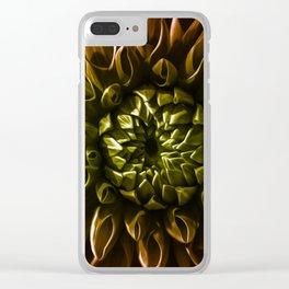 Dahlia multicolor Clear iPhone Case