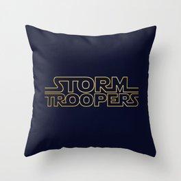 Stormtrooper Typographic Throw Pillow