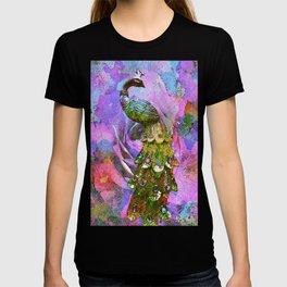 Peacock Watercolor T-shirt
