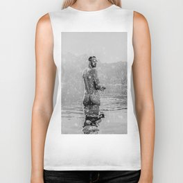 Alpine Snow Lake Nude Biker Tank