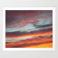 Berkshire Sunset I Art Print