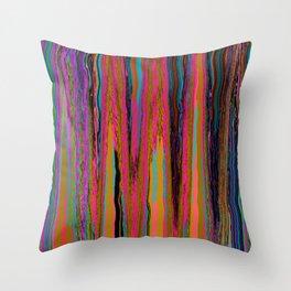 Neon Sediment Throw Pillow