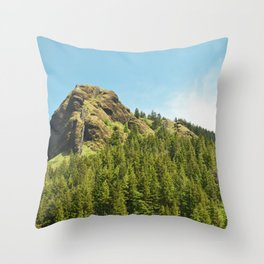 Saddle Mountain Oregon Forest Volcano Woods Landscape Northwest Throw Pillow