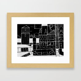 Big Town Framed Art Print