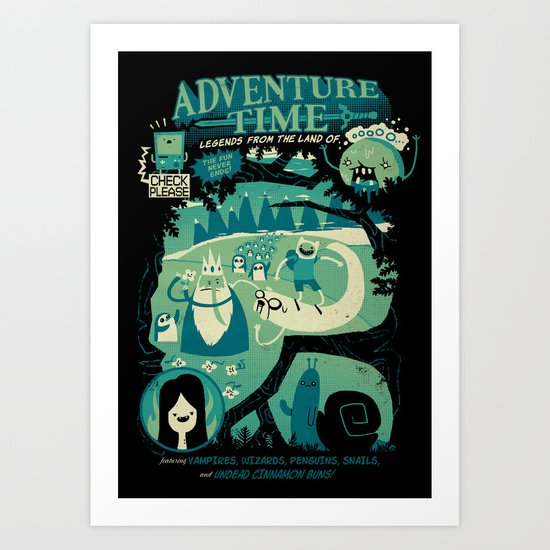 Legends from the Land of Ooo Art Print