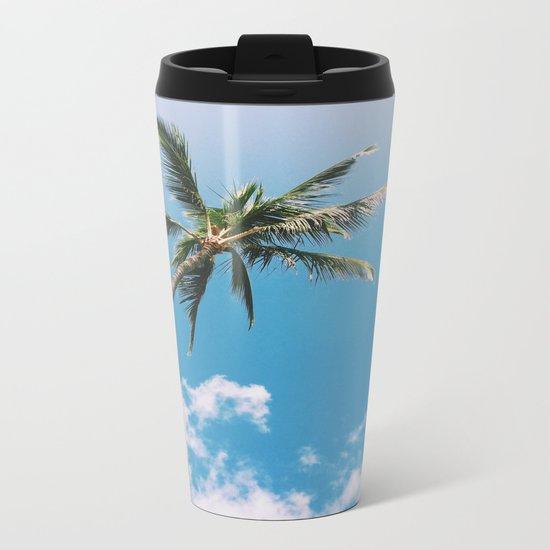 Clouds and Palms  Metal Travel Mug