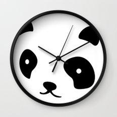 Minimalistic Panda face Wall Clock