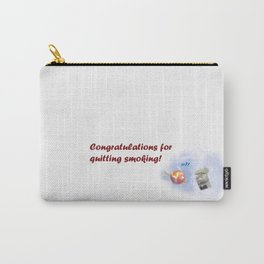 Greeting for Quitting Smoking- Fish Carry-All Pouch