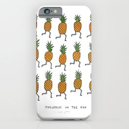 pineapples on the run iPhone Case