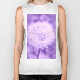 Sweet Dandelion in Lavender Biker Tank