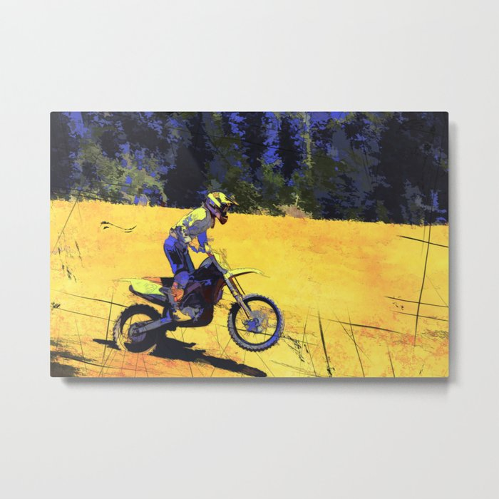 Riding Hard - Moto-x Champion Metal Print