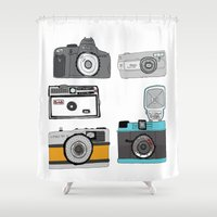 cameras Shower Curtains featuring Cameras by Josh Ross