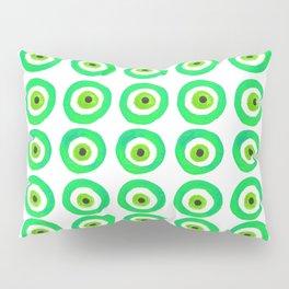 Evil Eye Amulet Talisman in Green Pillow Sham