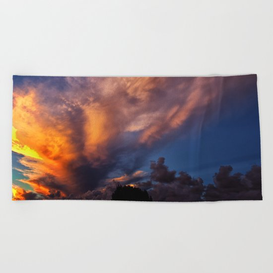 Winged Sunset Beach Towel