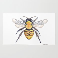 Watercolor Bee Rug