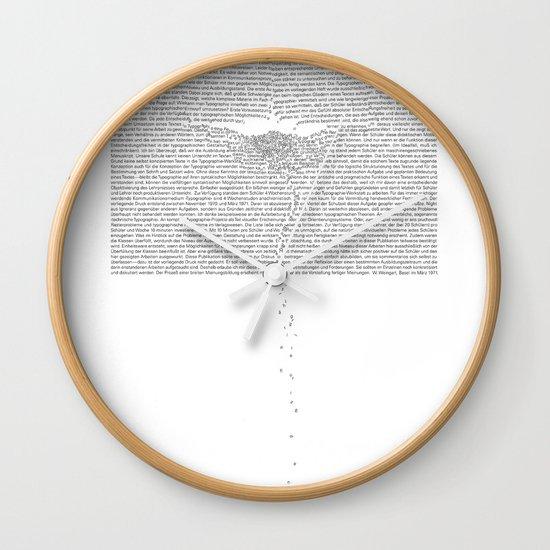 Erosion & Typography 1 Wall Clock