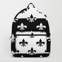 Black & white royal lilies (chessboard) Backpack