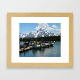 Pleasure Crafts on Jackson Lake Framed Art Print
