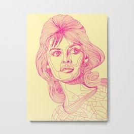 Brigitte Bardoodle Metal Print