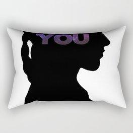 Star Wars Leia 'I Love You' Black Silhouette Couple Tee Rectangular Pillow