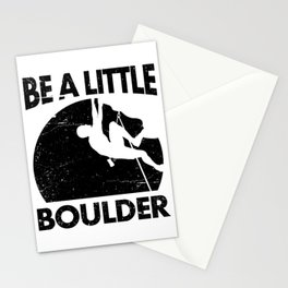 Be a Little BOULDER Funny Rock Climber Stationery Cards