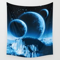planets Wall Tapestries featuring Fantasy Planets by FantasyArtDesigns