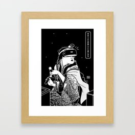 Young Woman tries VR Framed Art Print