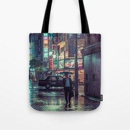 The Smiling Man // Rainy Tokyo Nights Tote Bag