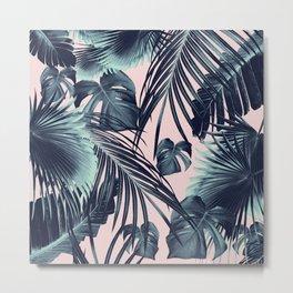 Tropical Jungle Leaves Dream #2 #tropical #decor #art #society6 Metal Print